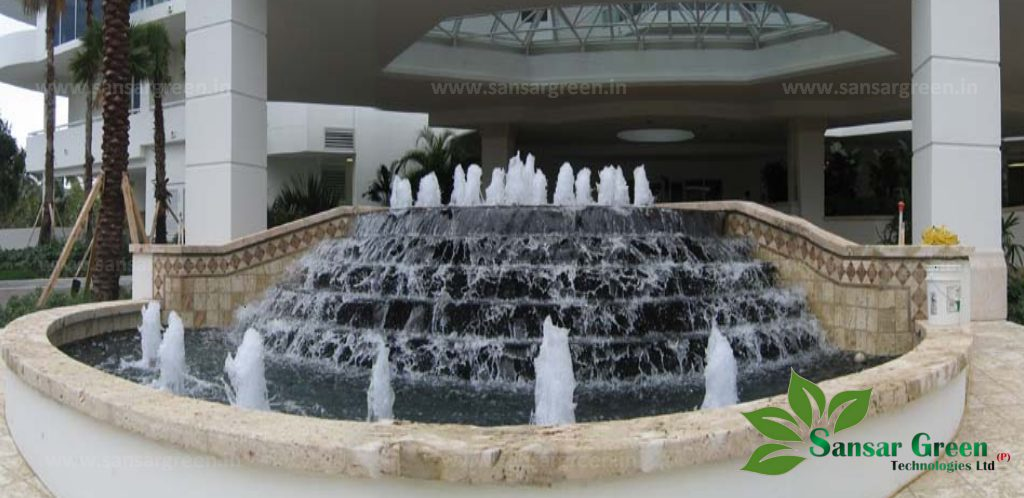 Step Waterfall Fountain manufacturer in india - Sansar Green Technologies