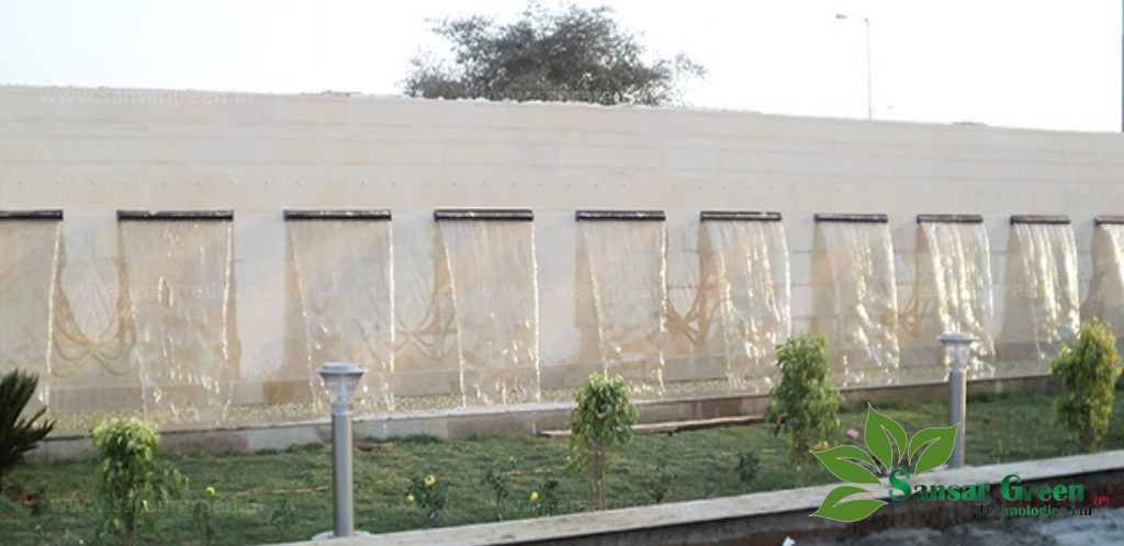 Water Sheet Fountain manufacturer in india - sansargreen technologies